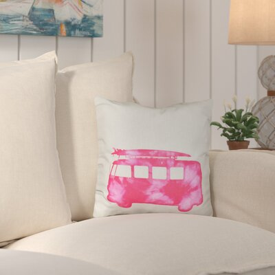 Marita Beach Drive Geometric Outdoor Throw Pillow Color: Pink