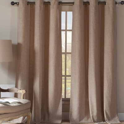 Dasaki Curtain Panels Color: Wheat