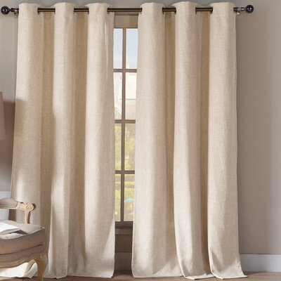 Dasaki Curtain Panels Color: Linen