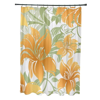 Costigan Shower Curtain Color: Yellow