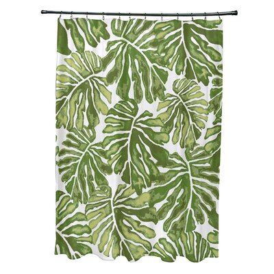 Costigan Shower Curtain Color: Green