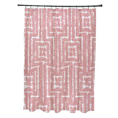 Thirlby Shower Curtain Color: Orange