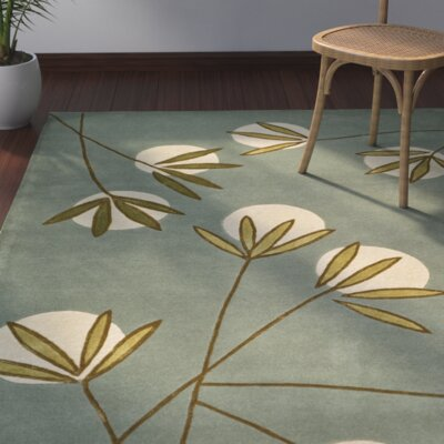 Felton Light Blue/Green Area Rug Rug Size: Rectangle 76 x 96
