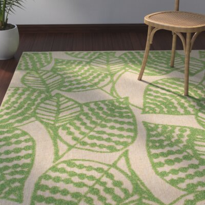 Ledyard Sand/Green Indoor/Outdoor Area Rug
