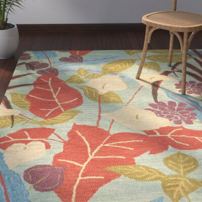 Dixie Floral Blue / Multi Contemporary Rug Rug Size: 26 x 4