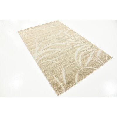 Spathariko Beige Indoor/Outdoor Area Rug Rug Size: 4 x 6