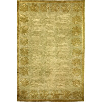 Vouno Sheep Green Area Rug Rug Size: Round 5