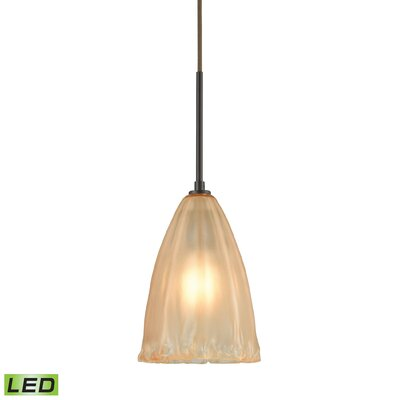 Mejorado 1-Light Mini Pendant Finish: Oil Rubbed Bronze