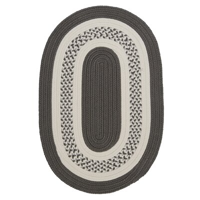 Rockport Gray Indoor/Outdoor Rug Rug Size: Round 4