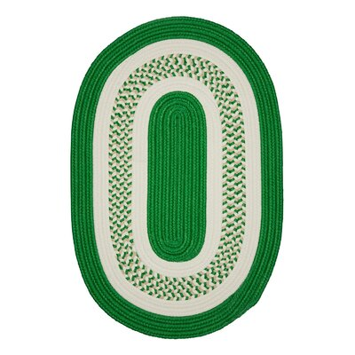 Rockport Green Indoor/Outdoor Area Rug Rug Size: Oval 10 x 13