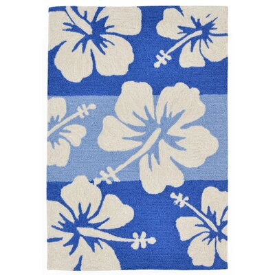 Rachael Hand-Tufted Blue Indoor/Outdoor Area Rug Rug Size: Rectangle 76 x 96