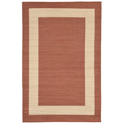 Bynum Rust Indoor/Outdoor Area Rug Rug Size: 111 x 211