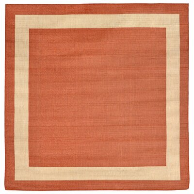 Sloane Rust Indoor/Outdoor Area Rug Rug Size: Square 710