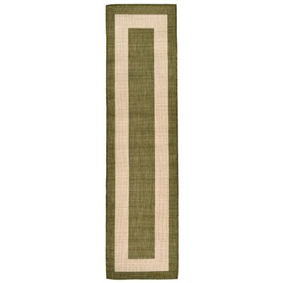 Bynum Green Indoor/Outdoor Area Rug Rug Size: Runner 111 x 76