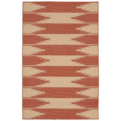 Sloane Orange Indoor/Outdoor Area Rug Rug Size: 33 x 411