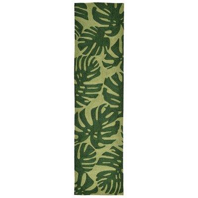 Derince Hand-Tufted Green Indoor/Outdoor Area Rug Rug Size: Runner 2 x 8
