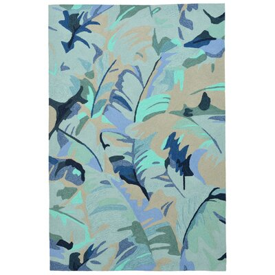 Derince Hand-Tufted Blue Indoor/Outdoor Area Rug Rug Size: 36 x 56