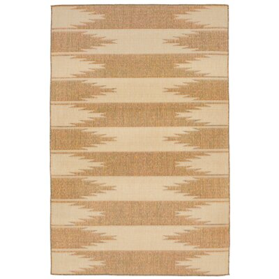 Sloane Taos Almond/Camel Indoor/Outdoor Area Rug Rug Size: Runner 111 x 76