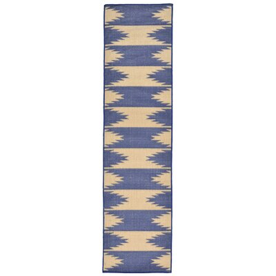 Bynum Blue Indoor/Outdoor Area Rug Rug Size: Runner 111 x 76