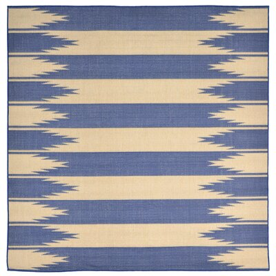 Sloane Blue Indoor/Outdoor Area Rug Rug Size: Square 710