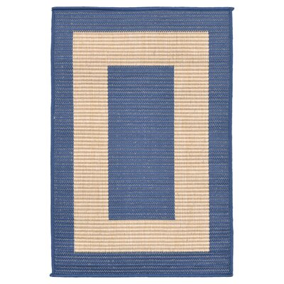 Bynum Border Blue Indoor/Outdoor Area Rug Rug Size: 33 x 411