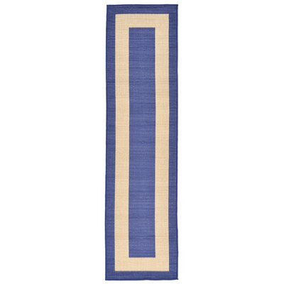 Sloane Blue Indoor/Outdoor Area Rug Rug Size: Runner 111 x 76