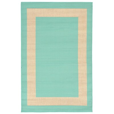 Bynum Blue/Beige Indoor/Outdoor Area Rug Rug Size: 111 x 211