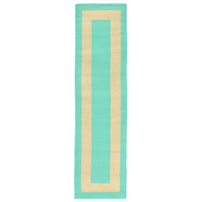 Bynum Blue/Beige Indoor/Outdoor Area Rug Rug Size: Runner 111 x 76