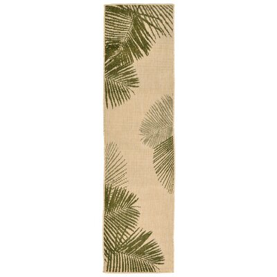 Cecile Natural Indoor/Outdoor Area Rug Rug Size: Runner 111 x 76