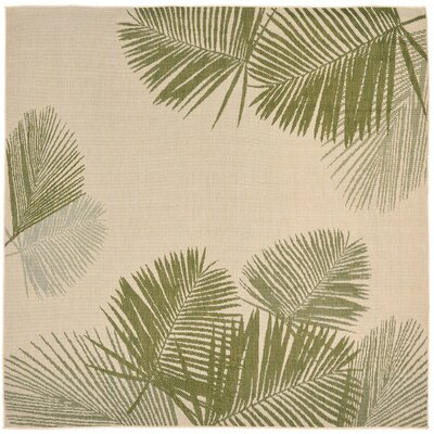 Cecile Natural Indoor/Outdoor Area Rug Rug Size: Square 710