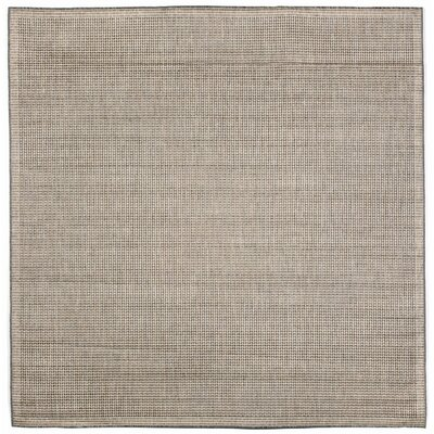 Cecile Texture Silver/Ivory Indoor/Outdoor Area Rug Rug Size: Square 710
