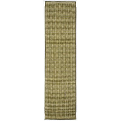 Cecile Green/Ivory Texture Indoor/Outdoor Area Rug Rug Size: Runner 111 x 76