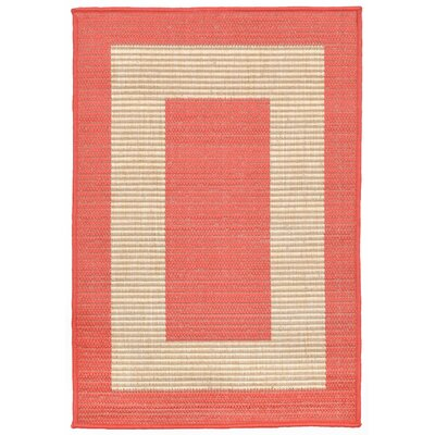 Bynum Orange/Beige Indoor/Outdoor Area Rug Rug Size: 111 x 211