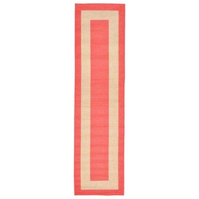 Bynum Orange/Beige Indoor/Outdoor Area Rug Rug Size: Runner 111 x 76