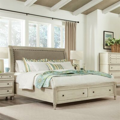 Waverley Upholstered Sleigh Headboard Size: California King
