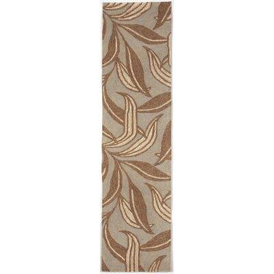 Demirhan Driftwood Leaf Outdoor Rug Rug Size: Runner 2 x 8