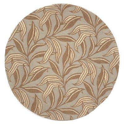 Demirhan Driftwood Leaf Outdoor Rug Rug Size: Round 8