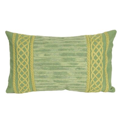Deryneia Stripe Indoor/Outdoor Lumbar Pillow Color: Sage