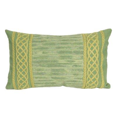 Deryneia Stripe Indoor/Outdoor Lumbar Pillow Color: Sage
