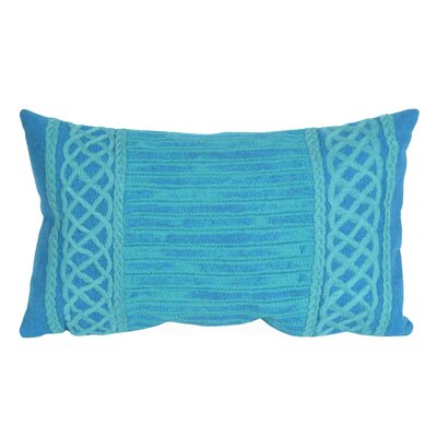 Deryneia Stripe Indoor/Outdoor Lumbar Pillow Color: Green