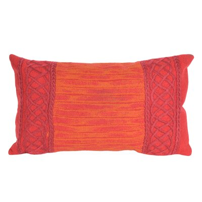 Deryneia Stripe Indoor/Outdoor Lumbar Pillow Color: Red
