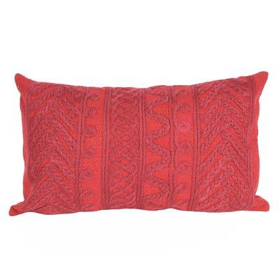 Deryneia Grove Indoor/Outdoor Lumbar Pillow Color: Red