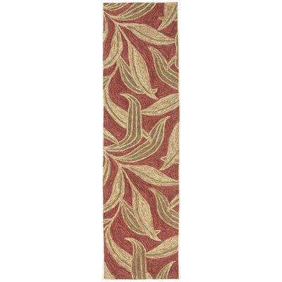Demirhan Red Leaf Outdoor Rug Rug Size: Runner 2 x 8