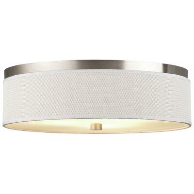 Mccoy 2-Light Flush Mount Shade Color: White