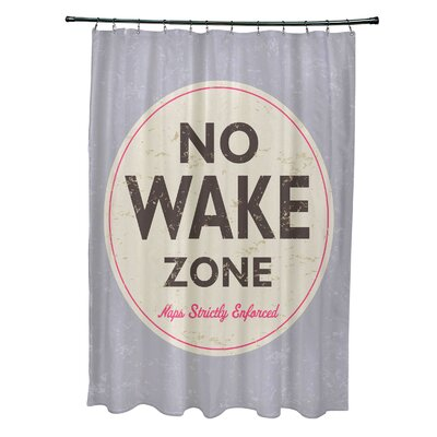 Pembrook Polyester Nap Zone Word Shower Curtain Color: Gray