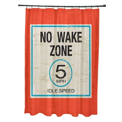 Pembrook Polyester No Wake Word Shower Curtain Color: Orange