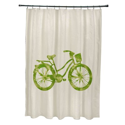Pembrook Polyester Life Cycle Geometric Shower Curtain Color: Light Green