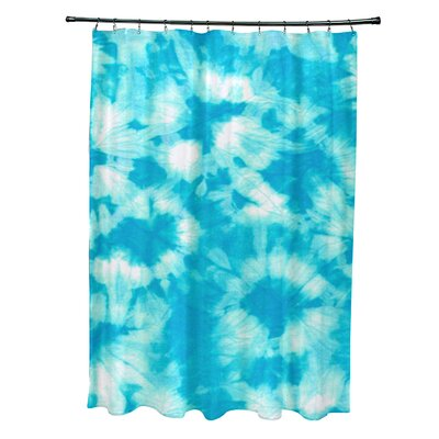 Pembrook Polyester Chillax Geometric Shower Curtain Color: Turquoise