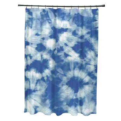 Pembrook Polyester Chillax Geometric Shower Curtain Color: Blue