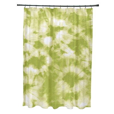 Pembrook Polyester Chillax Geometric Shower Curtain Color: Light Green